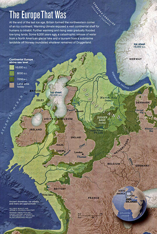Europe map end of ice age